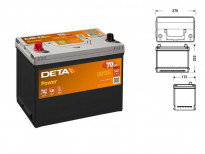 Акумулатор Deta Power 70Ah 540 A с ляв (+)