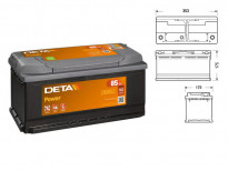 Акумулатор Deta Power 85Ah 760 A с десен (+)