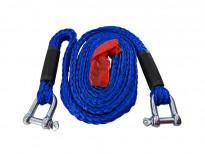Синьо въже за теглене Petex с карабинерни куки до 3000кг.