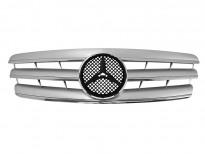 Хром/сива решетка за Mercedes C класа W203 2000-2007
