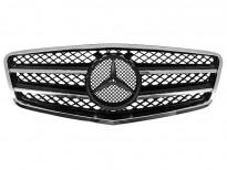 Хром/черна решетка тип AMG за Mercedes E класа W212 2009 =>