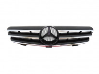 Хром/черна решетка за Mercedes CLK класа C209 2002-2009