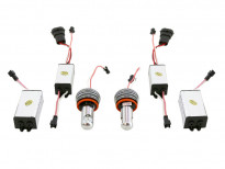 Червени LED лампи autopro за фабрични ангелски очи H8 20W CREE