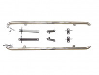 Степенки тип тръба за Nissan Qashqai 2015 => с осветление