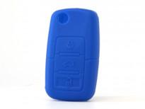 Син силиконов калъф за ключ за Volkswagen