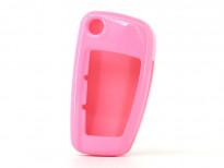 Розов пластмасов калъф за ключ за Audi