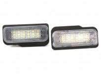 LED плафони за регистрационен номер за Mercedes C класа W203 комби, E класа W211, CLS класа C219, SLK R171