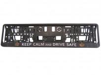 Табла за регистрационен номер Keep calm and drive safe