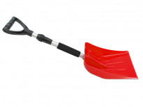 Лопата за сняг с телескопична дръжка Petex 77 см / 102 см  червена