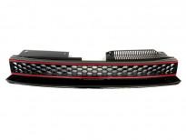 Черна решетка без емблема тип пчелна пита за VW Golf VI GTI 2008 =>