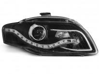 Тунинг фарове с истински DRL светлини за Audi A4 B7 11.2004-03.2008 седан/комби/кабрио