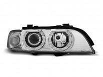 Тунинг фарове с халогенни ангелски очи за BMW E39 09.1995-05.2003 седан/комби