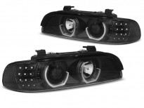 Тунинг фарове с 3D LED ангелски очи за BMW E39 09.1995-05.2003 седан/комби