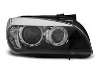 Тунинг фарове с халогенни ангелски очи за BMW X1 E84 10.2009-07.2012