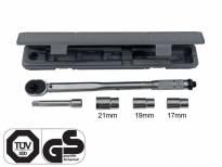 Динамометричен ключ Petex 28-210Nm с 3 накрайника