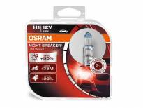 Комплект 2 броя халогенни крушки Osram H1 Night Breaker Unlimited 12V, 55W, P14.5s