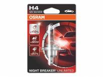 Халогенна крушка Osram H4 Night Breaker Unlimited 12V, 60/55W, P43t, 1 брой