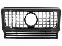 Хром/черна решетка тип G63 за Mercedes G класа W463 1990-2014