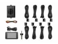 Парктроник система с 2,5 инча двоен LCD дисплей с 8 черни датчика