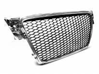 Хром/черна решетка тип RS за Audi A4 B8 2008-2011