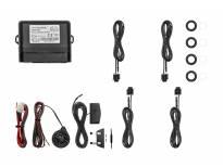 Парктроник система Easypark със звукова и визуална сигнализация с 4 датчика черни