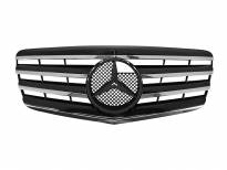Хром/черна решетка за Mercedes E класа W211 2006-2009