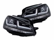 Комплект LED фарове Osram LEDriving Black Edition за VW Golf VII 2012-2016, ляв и десен