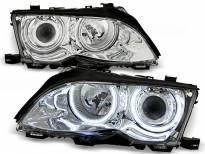 Комплект тунинг фарове с CCFL ангелски очи за BMW 3 E46 09.2001-03.2005 седан/комби , ляв и десен
