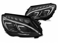 Комплект LED фарове за Mercedes C класа W205 2014-2018 с черна основа, ляв и десен