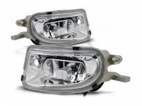 Комплект халогени за Mercedes E класа W210 1999-2002/SLK R170 1996-2000/CLK W208 1998-2002 хром, ляв + десен