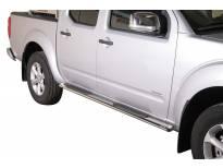 Овални степенки Misutonida със стъпала за Nissan Pick Up Navara двойна кабина след 2010 година