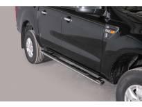 Овални степенки Misutonida със стъпала за Ford Ranger двойна кабина след 2012 година