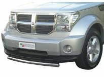 Ролбар Misutonida по цялата дължина на бронята за Dodge Nitro след 2007 година с капачки от неръждаема стомана