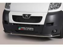 Ролбар Misutonida по цялата дължина на бронята за Peugeot Boxer 2006-2013 с капачки от неръждаема стомана