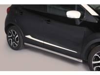 Странични протектори Misutonida за Renault Captur след 2013 година с неръждаеми капачки