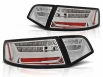 Комплект тунинг LED стопове за Audi A6 C6 седан 2008-2011 с бяла основа , ляв и десен