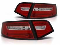 Комплект тунинг LED стопове за Audi A6 C6 седан 2008-2011 червено/бели , ляв и десен