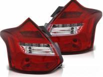 Комплект тунинг LED стопове за Ford Focus III хечбек 2011-10.2014 червено/бели , ляв и десен