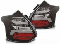 Комплект тунинг LED стопове за Ford Focus III хечбек 2011-10.2014 с черна основа , ляв и десен