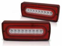 Комплект тунинг LED стопове за Mercedes G класа W463 1990-2012 червено/бели , ляв и десен