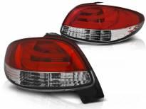Комплект тунинг LED стопове за Peugeot 206 след 10.1998 година черно/бели , ляв и десен