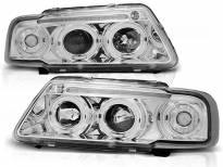 Комплект тунинг фарове с халогенни ангелски очи за Audi A3 8L 08.1996-08.2000 , ляв и десен