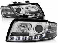 Комплект тунинг фарове с LED светлини за Audi A4 B6 10.2000-10.2004 седан/комби , ляв и десен