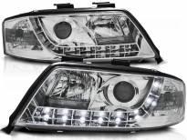 Комплект тунинг фарове с LED светлини за Audi A6 C5 06.2001-05.2004 седан/комби , ляв и десен