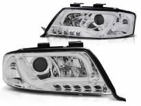Комплект тунинг фарове с LED светлини за Audi A6 C5 05.1997-05.2001 седан/комби , ляв и десен