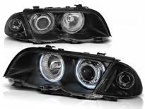 Комплект тунинг фарове с CCFL ангелски очи за BMW 3 E46 05.1998-08.2001 седан/комби , ляв и десен