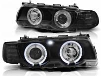 Комплект тунинг фарове с халогенни ангелски очи за BMW 7 E38 9.1998 - 7.2001 , ляв и десен