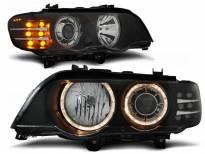 Комплект тунинг фарове с халогенни ангелски очи за BMW X5 E53 09.1999-10.2003 , ляв и десен