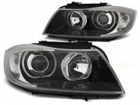 Комплект тунинг фарове с LED ангелски очи за BMW 3 E90/E91 03.2005-08.2008 , ляв и десен