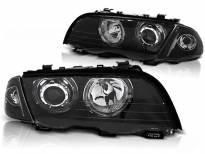 Комплект тунинг фарове с LED ангелски очи за BMW 3 E46 05.1998-08.2001 седан/комби , ляв и десен